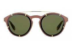 GIVENCHY SUNGLASS FOR MEN ROUND BROWN AND GOLD - GV7088S FG4QT
