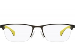 HUGO BOSS FRAME FOR MEN RECTANGLE BLACK AND YELLOW - 1080 SVK