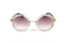 JIMMY CHOO SUNGLASSES FOR WOMEN ROUND GOLD AND TIGER - GEMS 2KQFW
