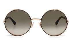 JIMMY CHOO SUNGLASSES FOR WOMEN ROUND GOLD AND TIGER - LILOS DDBHA