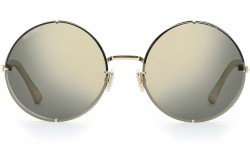 JIMMY CHOO SUNGLASSES FOR WOMEN ROUND GOLD AND BLACK - LILOS J5GJO