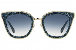 JIMMY CHOO SUNGLASSES FOR WOMEN CAT EYE BLUE AND GOLD - LIZZYS KY208