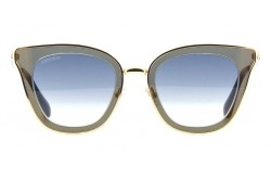 نظارة شمسية JIMMY CHOO للنساء كات أي لون ذهبي و أسود - LORYS KY208