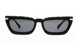 JIMMY CHOO SUNGLASSES FOR WOMEN RECTANGLE BLACK AND TIGER - VELAGS FP3IR