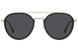 LEVIS SUNGLASSES FOR UNISEX ROUND BLACK AND GOLD - LV5010S 807IR