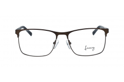 LUXURY FRAME FOR MEN RECTANGLE BROWN AND BLACK - LX18719 4