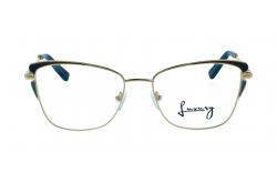 LUXURY FRAME FOR WOMEN CAT EYE BLUE AND GOLD - LX1909S 1
