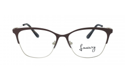 LUXURY FRAME FOR WOMEN CAT EYE BROWN AND TIGER - LX3742 7