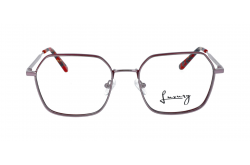 LUXURY FRAME FOR UNISEX SQUARE RED AND SILVER - LXYJ0049 2
