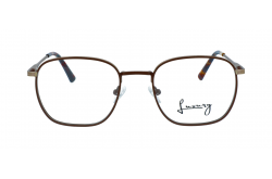 LUXURY FRAME FOR UNISEX SQUARE BROWN AND GOLD - LXYJ0052 4