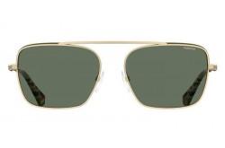 نظارة شمسية POLAROID للرجال والنساء مربع لون ذهبي و أسود  - PLD6131S J5GUC