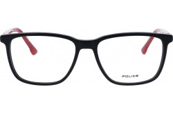 POLICE FRAME FOR MEN SQUARE BLACK AND RED - VK085 0AAU