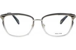 نظارة طبية POLICE للنساء مربع لون ذهبي و نمري - VPLA91 0300