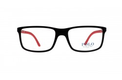 POLO Frame For Men RECTANGLE BLACK AND RED - PH2126 5504