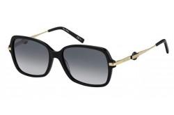 نظارة شمسية PIERRE CARDIN للنساء مربع لون أسود وذهبي - P.C. 8474/S  807/9O