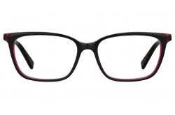 PIERRE CARDIN FRAME FOR WOMEN SQUARE BLACK AND RED - 8478 OIT