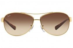 RAYBAN  SUNGLASS FOR MEN AVIATOR GOLD AND TIGER - RB3386  001/13