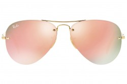 RAYBAN  SUNGLASS FOR UNISEX AVIATOR GOLD - RB3449  001/2Y