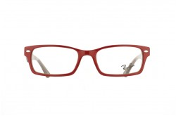 RAYBAN FRAME FOR UNISEX RECTANGLE RED AND BROWN - RB5206 5130