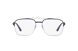 RAYBAN FRAME FOR UNISEX SQUARE BLUE AND SILVER  - RB6404 2947