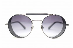 RETRO SUNGLASS FOR UNISEX ROUND BLACK - RT1678  01