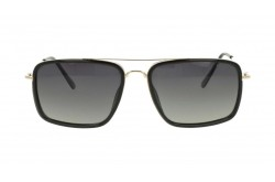 ROMANTIC SUNGLASS FOR MEN RECTANGLE BLACK AND GOLD - RO3410 C8