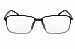 SILHOUETTE FRAME FOR UNISEX SQUARE BLACK AND BLUE - 2887  6055