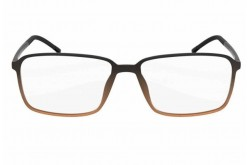 SILHOUETTE FRAME FOR UNISEX SQUARE BLACK AND BROWN - 2887/10 6054