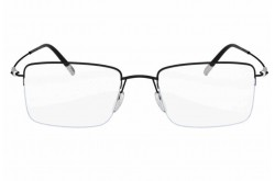 SILHOUETTE FRAME FOR UNISEX SQUARE BLACK - 5497/75  9040