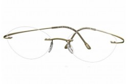 SILHOUETTE FRAME FOR UNISEX OVAL GOLD - 6683/40 6073