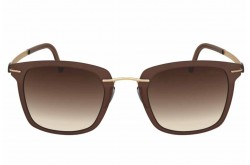 SILHOUETTE SUNGLASS FOR UNISEX SQUARE GOLD AND BROWN - 8700/75 6030
