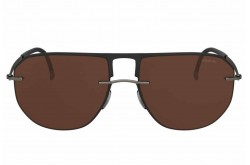 SILHOUETTE SUNGLASS FOR MEN AVIATOR BLACK AND GRAY - 8704/75 9040