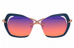 SILHOUETTE SUNGLASS FOR WOMEN BUTTERFLY BRONZE - 9910   2540