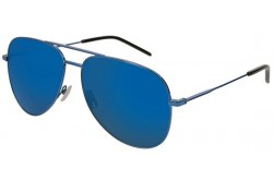 SAINT LAURENT SUNGLASS FOR UNISEX AVIATOR BLACK AND BLUE - CLASSIC11  026