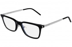 SAINT LAURENT FRAME FOR MEN SQUARE SILVER AND BLACK - SL 262  002