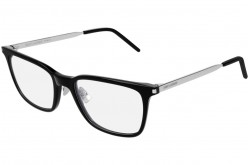SAINT LAURENT FRAME FOR MEN SQUARE SILVER AND BLACK - SL 262