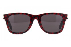 SAINT LAURENT SUNGLASS FOR UNISEX SQUARE BLACK AND RED - SL 51  031