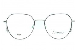 STAMINA FRAME FOR WOMEN AVIATOR SILVER AND BLACK - 2001  SILIVER AND BLACK