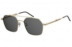 نظارة شمسية TOMMY HILFIGER للرجال مربع لون ذهبي - TH1676/G/S  J5G/IR