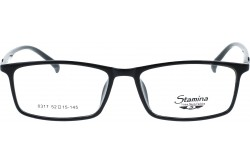 STAMINA FRAME FOR MEN RECTANGLE BLACK - 0317  C1