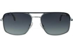 نظارة شمسية CARRERA للرجال مربع لون فضي وأسود - 152S   85KWJ