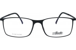 SILHOUETTE FRAME FOR UNISEX SQUARE BLACK - 2902/40  6050