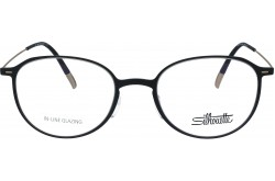 SILHOUETTE FRAME FOR UNISEX ROUND BLACK AND GOLD - 2909/75  9030
