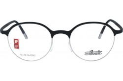 SILHOUETTE FRAME FOR UNISEX ROUND BLACK - 2910/75 9000