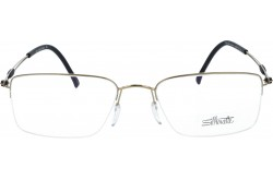 SILHOUETTE FRAME FOR UNISEX SQUARE BLACK AND GOLD - 5278/20 6061