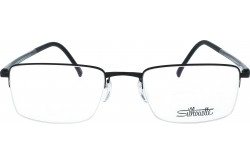 SILHOUETTE FRAME FOR UNISEX SQUARE BLACK AND GRAY - 5457/40 6058