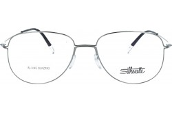 SILHOUETTE FRAME FOR UNISEX AVIATOR SILVER AND BLACK - 5507/75 6610