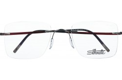 SILHOUETTE FRAME FOR UNISEX CAT EYE WARM RED AND SILVER - 5523/GO 6560