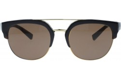 DOLCE&GABBANA SUNGLASS FOR UNISEX ROUND BLACK AND GOLD - DG4317  315873