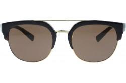 نظارة شمسية DOLCE&GABBANA للرجال والنساء دائري لون أسود وذهبي - DG4317  315873